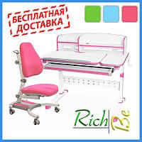 Детские ПАРТЫ Столы и стулья Evo-Kids кресло Omega + парта Martin c полкой