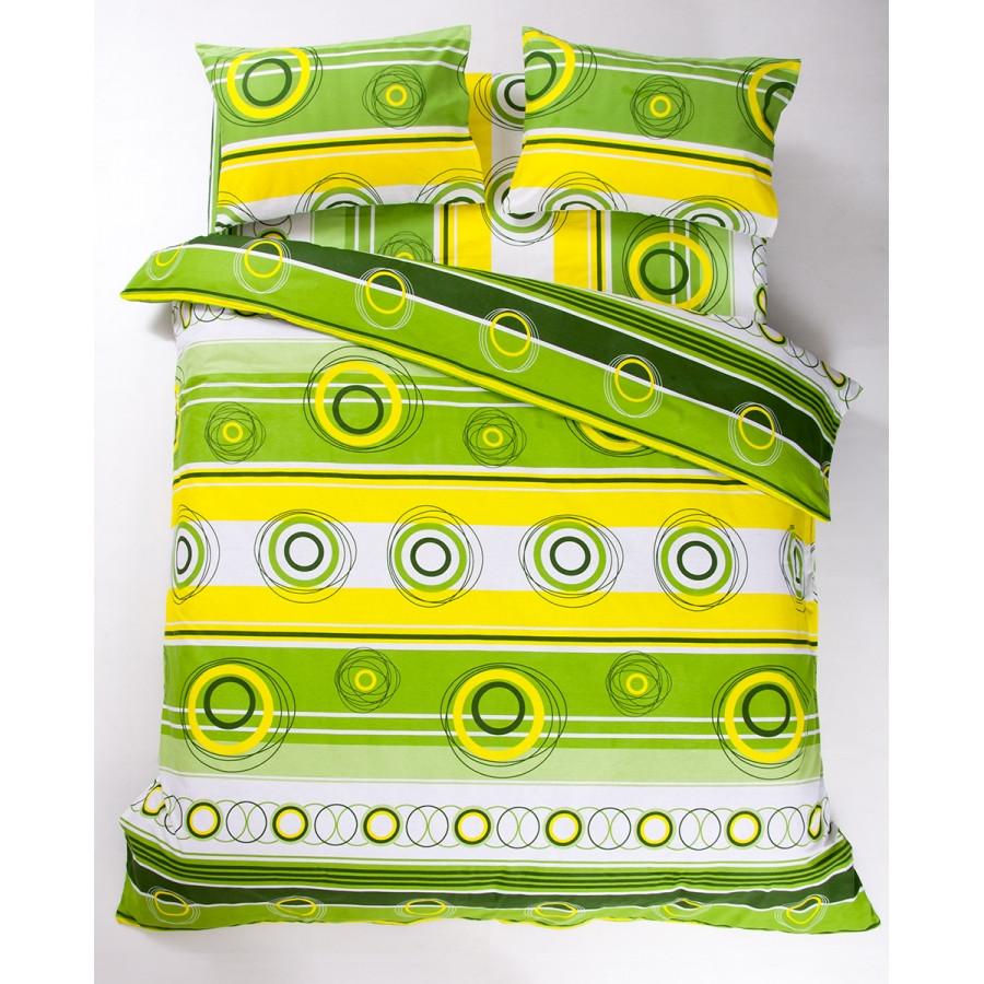 Постельное белье Lotus Ranforce - Sweet зеленый евро