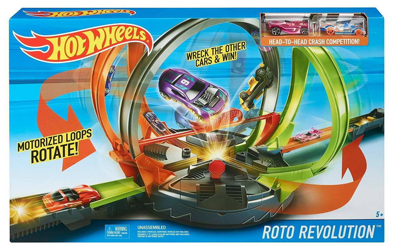 Трек Хот Вилс Улётное вращение Hot Wheels Roto Revolution Оригинал от Mattel