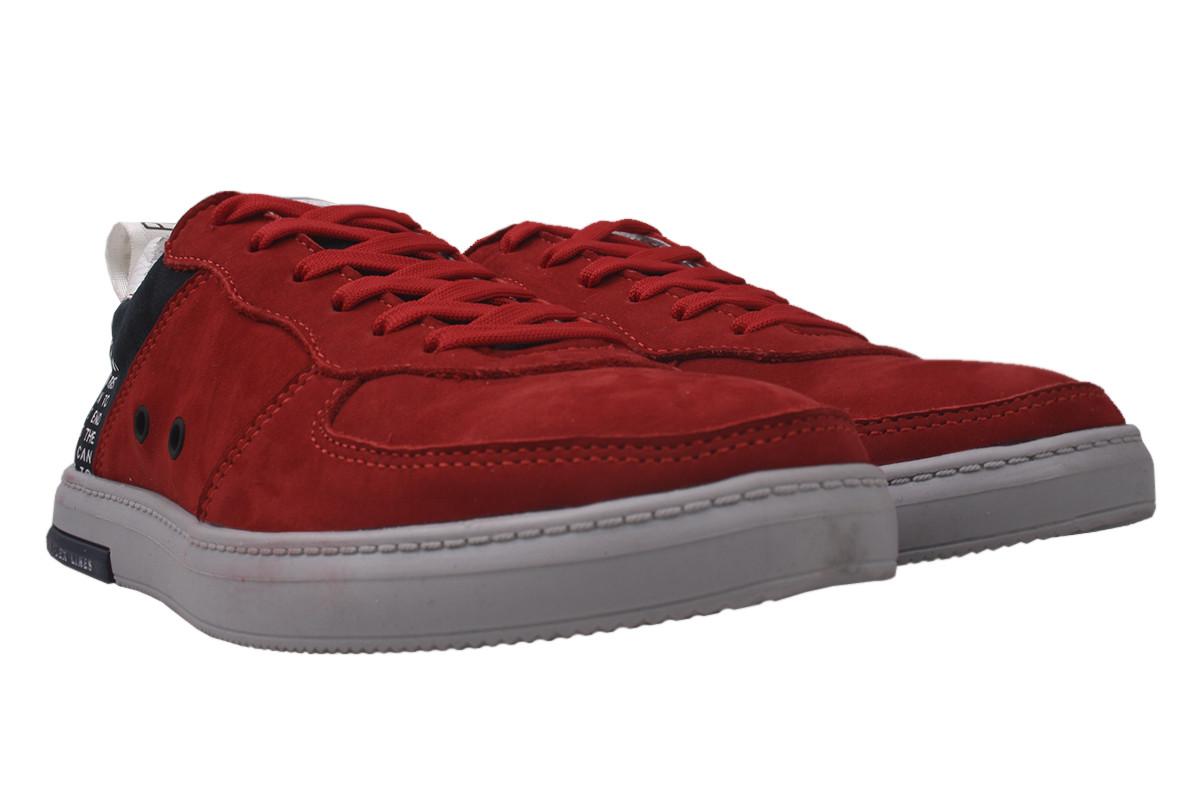 Туфлі чоловічі Visazh нубук, колір червоний, розмір 40-45