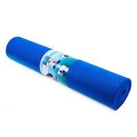 Йогамат, коврик для фитнеса, GreenCamp, 4мм, PVC, салатовый. синий