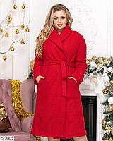 """Стильное женское демисезонное пальто большого размера """"Илона"""" 48-50, 52-54"""