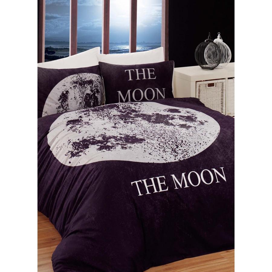 Постельное белье Charlot Home - Moon siyah черный ранфорс евро