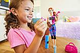 Барби йога безграничные движения шарнирная Barbie Made to Move Fitness Doll Бабрі йога фітнес, фото 7