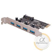 Контроллер PCIe - USB3.0 (EXT: 4×USB3.0, POWER: SATA), фото 1