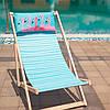 Шезлонг складной для пляжа и бассейна Фламинго