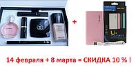 Подарочный женский набор Chanel  косметика и туалетная вода (6 в 1) + Стильный повербанк Pineng PN-958, фото 1