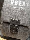 Барсетка GREAT-TOWN слинг на грудь Отличное качество Оксфорд ткань 1000D спортивные для через плечо(ОПТ), фото 7