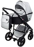 Коляска детская 2 в 1 Bair Mirello Plus кожа 100% MP-31 серебро перламутр - черный