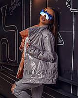Женская лаковая  двухсторонняя куртка Moncler - демисезон