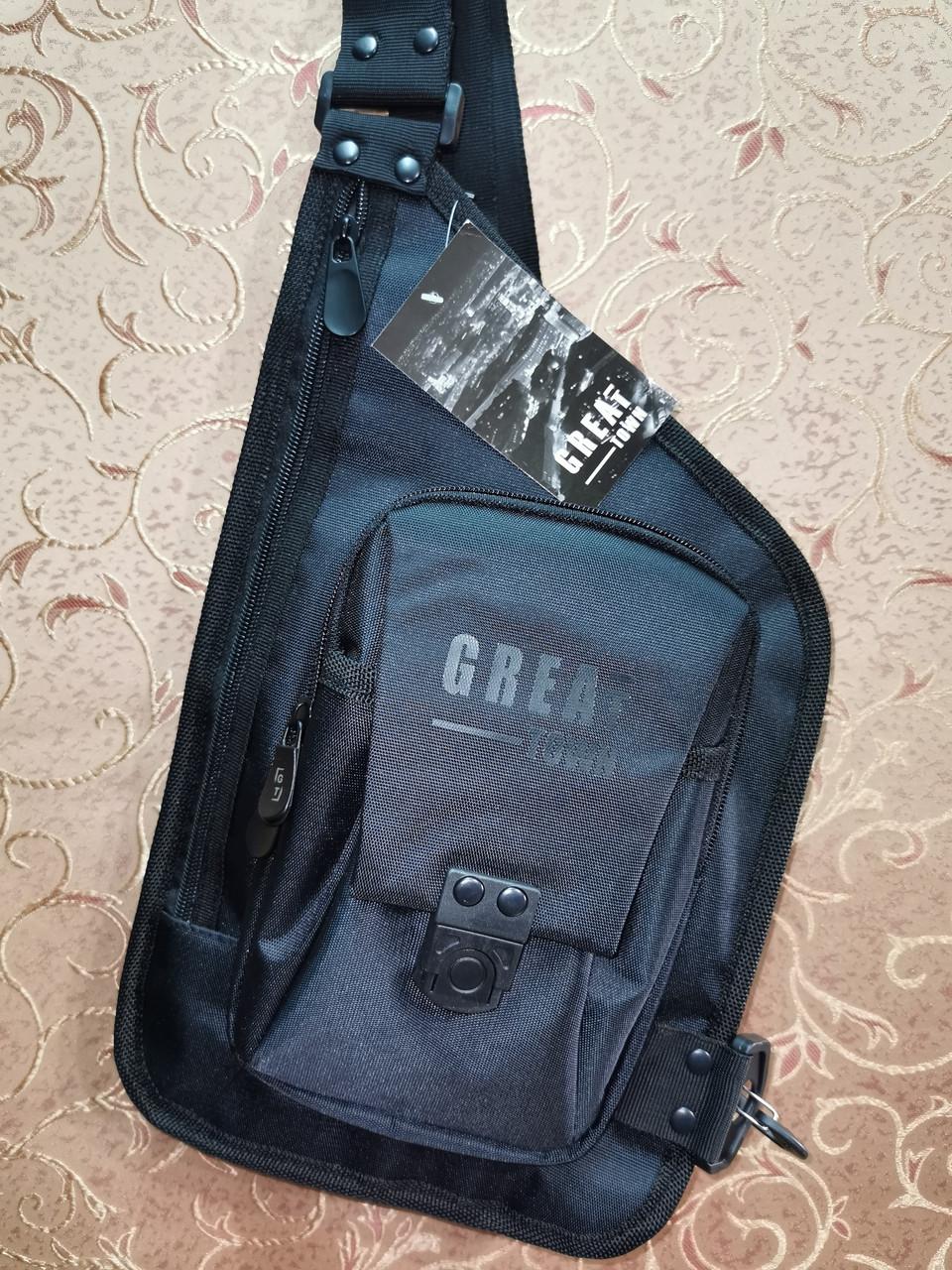 Барсетка GREAT-TOWN слинг на грудь Отличное качество Оксфорд ткань 1000D спортивные для через плечо(ОПТ)