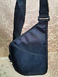 Барсетка GREAT-TOWN слинг на грудь Отличное качество Оксфорд ткань 1000D спортивные для через плечо(ОПТ), фото 4