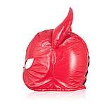 Красная маска для интимных игр Рога быка, фото 2