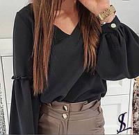 Блузка женская чёрная, белая, бежевая, красная, 42-44, 46-48, 50-52, 54-56, 58-60, фото 1