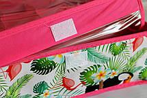 Органайзер для белья 16 секций, с прозрачной крышкой. Розовый ( Органайзер для белья), фото 2