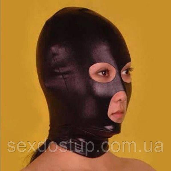 Черная маска с вырезами