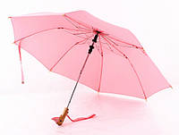 Зонт с деревянной ручкой голова утки (Розовый), фото 1