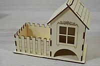Подвійний чайний будиночок з дерева