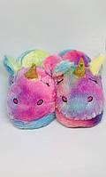 Детские домашние тапочки Единорог Звездный 19 см, фото 1