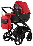 Детская коляска 2 в 1 Richmond Mirello кожа 100% (красный - черный)