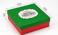 Подарочная коробка Merry Christmas 18х18х6 см, фото 1
