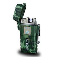 Электроимпульсная Usb зажигалка Explorer сенсорная, фото 1