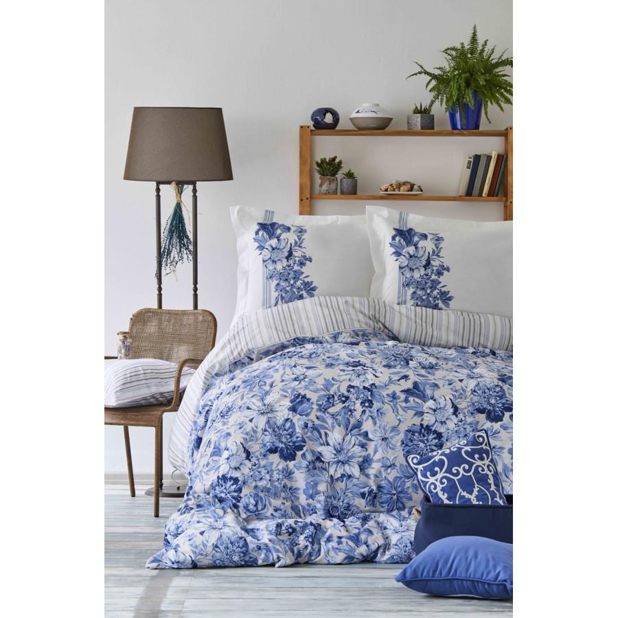 Постельное белье Karaca Home - Melanie indigo 2018-2 пике 200*230 евро