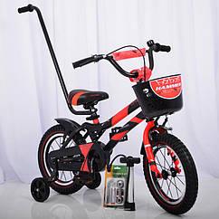 Детский двухколесный велосипед HAMMER S500 (от 3 до 6 лет) на 14 дюймов красный