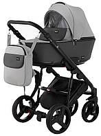 Детская коляска 2 в 1 Richmond Mirello кожа 100% (серый - графит)