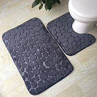 Набор ковриков в ванную комнату Камушки 3 шт, фото 1
