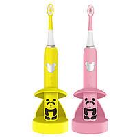 Детская звуковая электрическая зубная щетка Happy Panda, аккумуляторная