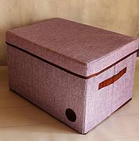 Короб для хранения вещей кофр 40х30х25 см