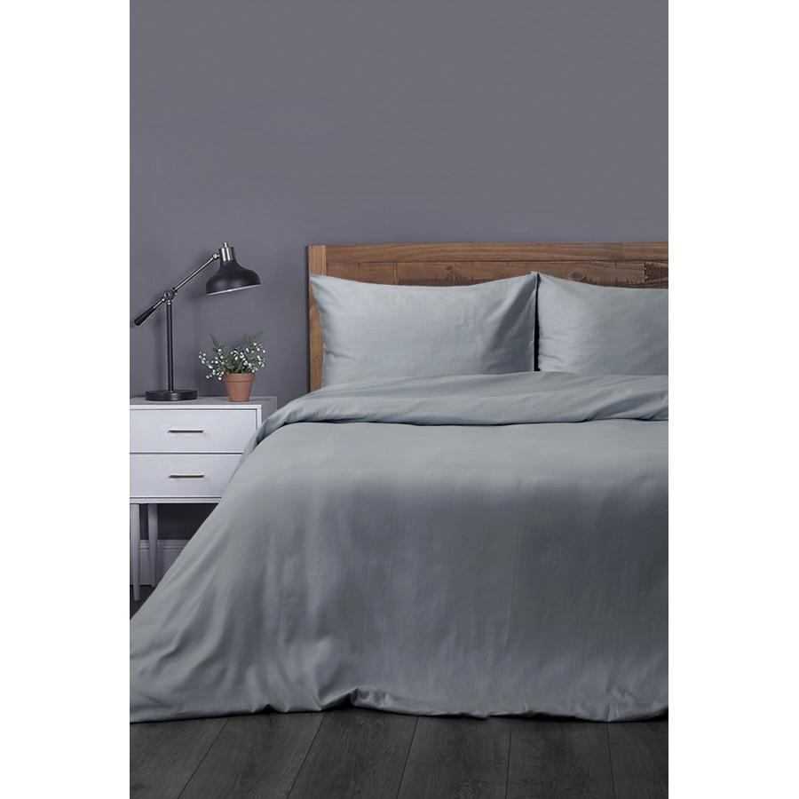 Постельное белье Lotus Отель - Сатин Классик серый евро (Турция)