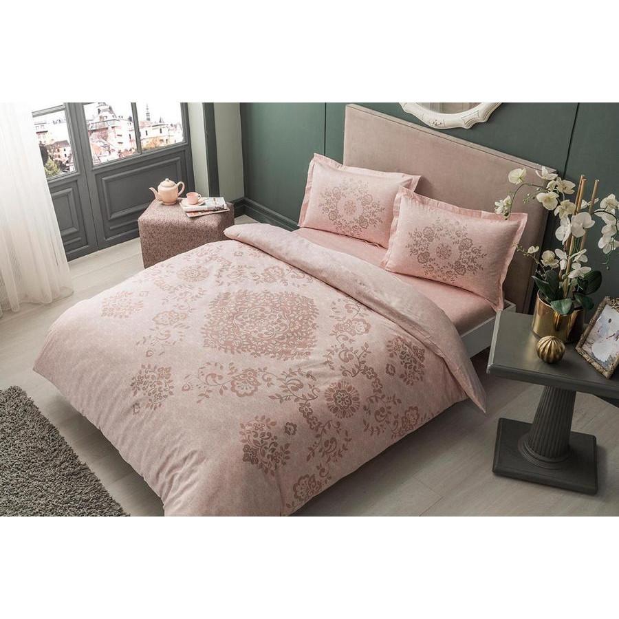 Постельное белье Tac сатин - Carissa pembe v51 розовый евро