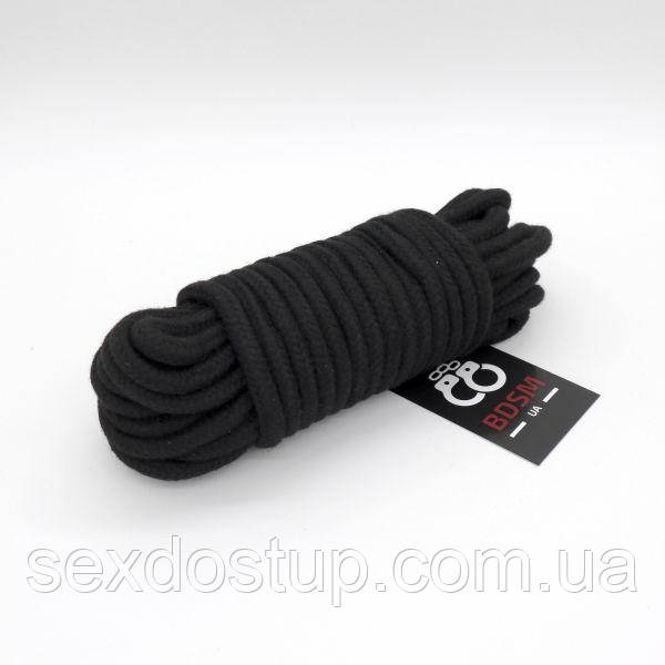 Черные хлопковые веревки для БДСМ-игр