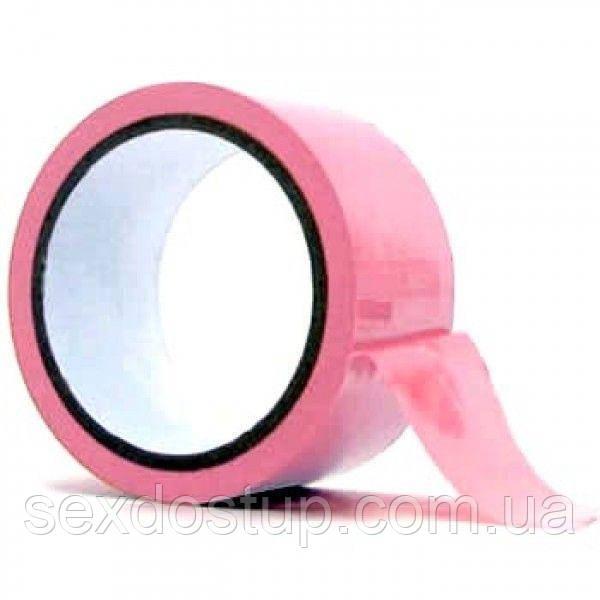 Розовая липкая лента