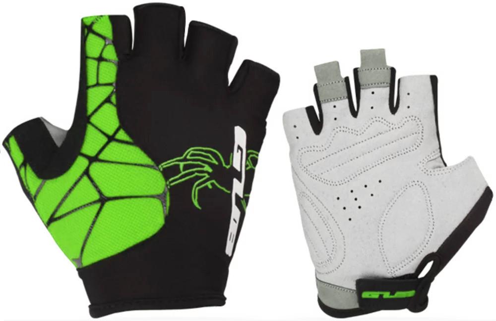 Перчатки велосипедные GUB S036, черно-зеленые, XL