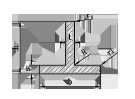 ТАВР   Т ПРОФІЛЬ алюміній Без покриття, 60х80х2 мм