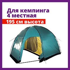 Палатка для кемпинга Tramp Bell 4 (V2) двухслойная четырех 4 местная с тамбуром кемпинговая палатка