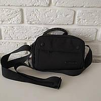 """Стильная мужская сумка мини на длинной ручке """"Марио Black"""", фото 1"""