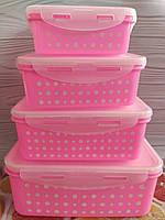 Набор вакуумных контейнеров для хранения продуктов 2 шт ( Судочки пищевые)