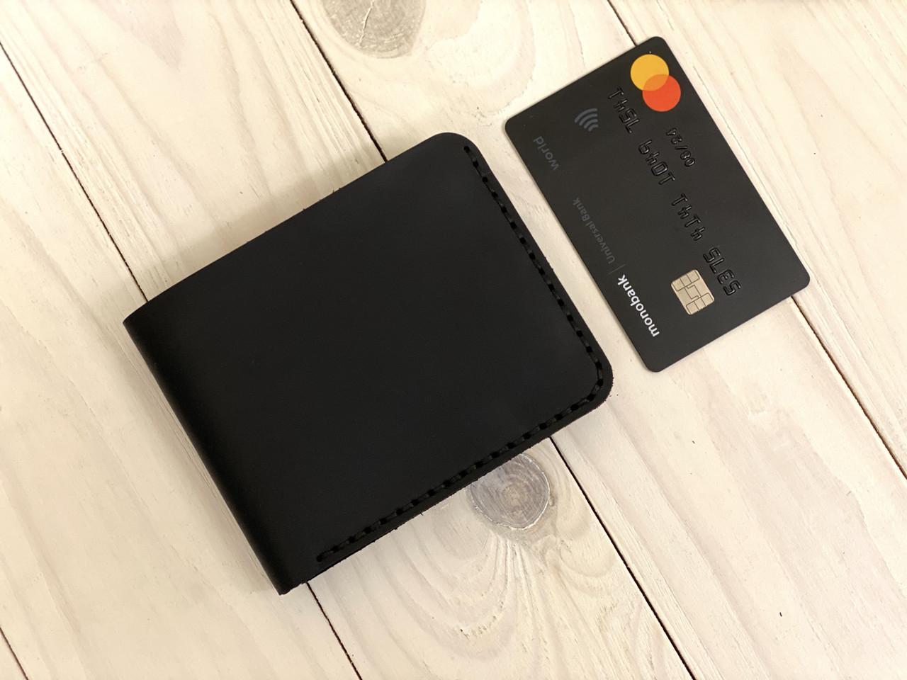 Кожаный кошелек мужской Goose™ Montis G0044 черный без монетницы