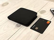 Кожаный кошелек мужской Goose™ Montis G0044 черный без монетницы, фото 3