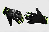 """Перчатки """"FOX"""" BOMBER (mod:FX-5) (XL, черно-зеленые)"""