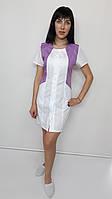 Медичний жіночий халат Ліка бавовна короткий рукав, фото 1
