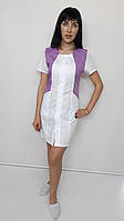Медицинский женский халат Лика хлопок короткий рукав, фото 1