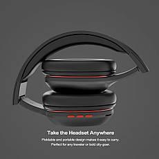 Бездротові навушники (гарнітура) Ausdom M09 з підтримкою microSD Black, фото 3