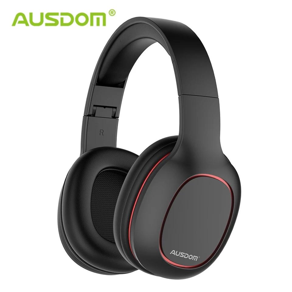 Бездротові навушники (гарнітура) Ausdom M09 з підтримкою microSD Black