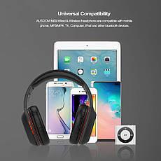 Бездротові навушники (гарнітура) Ausdom M09 з підтримкою microSD Black, фото 2