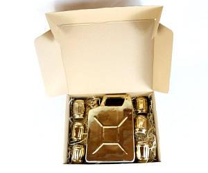 Подарочный набор Дозаправка №2 - золотая канистра и 6 рюмок